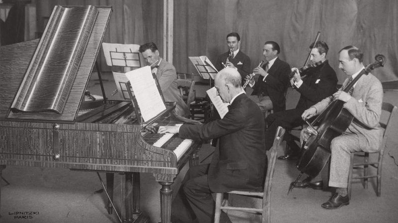 De Falla directing his harpsichord concerto
